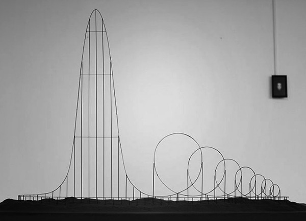 The Euthanasia Coaster on display at the HUMAN+
