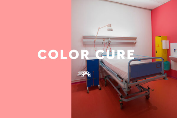 A colorful hospital room designed by Poul Gernes