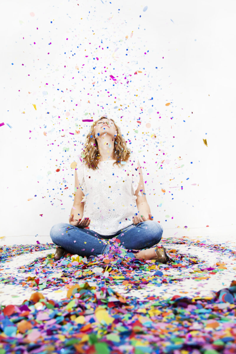 """The phrase """"aging gracefully"""" puts tremendous pressure on us to look a certain way as we get older. But what if instead we thought about how we want to feel, and imagined aging joyfully instead? Image by the Confetti Project"""